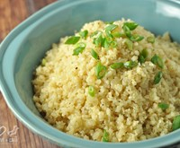 Low Carb Buttery Cauliflower Rice Pilaf